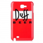 Duff Beer Design Protective PC Back Case for Samsung i9220 - Red