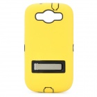 Robot Style Protective Plastic Back Case w/ Silicone Cover for Samsung i9300 - Yellow + Black