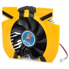 A12 High Performance Cooling Fan for PC Video Card - Yellow + Black (DC 12V)