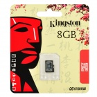 Kingston Micro SDHC TF Memory Card - Black (8GB / Class 10)