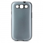 2-in-1 Protective Silicone Back Case w/ Aluminum Cover for Samsung i9300