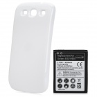 "3.7V ""4300mAh"" Extended Battery w/ Back Case for Samsung i9300 / S3 - Black + White"
