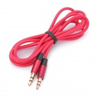 3.5mm Male to Male Audio Cable - Red (3.5mm Jack)