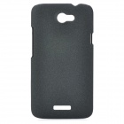 Fashion Protective Plastic Back Case w/ Screen Protector Guard Film for HTC One X - Black