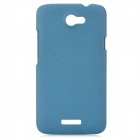 Fashion Protective Plastic Back Case w/ Screen Protector Guard Film for HTC One X - Blue