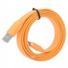 U2-119 USB 2.0 Male to Micro 5P Male Data / Charging Flat Cable for Samsung + HTC + More - Orange