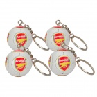 Cool Arsenal FC Logo Football Style Keychain - White (4-Piece)
