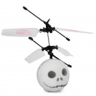 Infrared R/C Control Flying Ghost Face Plush Ball Toy - White
