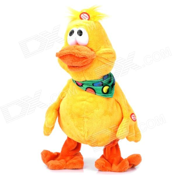 Cute Plush Music Dancing Duck Toy - Yellow (3 x AA) human body interaction music playing game toy white pink 2 x aa