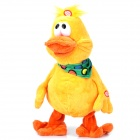 Cute Plush Music Dancing Duck Toy - Yellow (3 x AA)