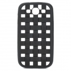 Weave Pattern Hollow Out Soft Silicone Case for Samsung Galaxy S3 / i9300 - Black