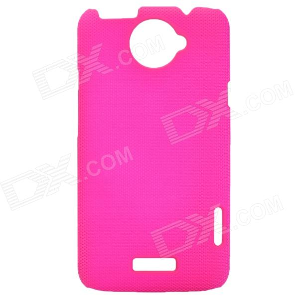 Mesh Style Protective Back Case for HTC One X S720e - Deep Pink matte protective pe back case for htc one x s720e deep pink