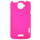 Mesh Style Protective Back Case for HTC One X S720e - Deep Pink