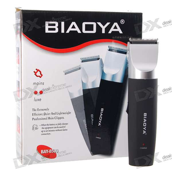 BIAOYA Rechargeable Hair Clippers Set (220~240V AC) waterproof rechargeable hair trimmer with accessories set black red 220v ac