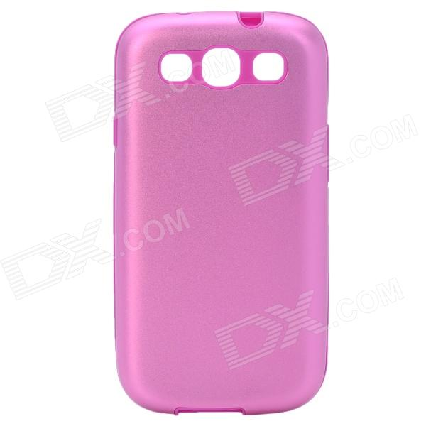 Stylish Protective Back Case for Samsung Galaxy S3 i9300 - Pink + Purple