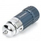 Mini Car Charger Powered Rechargeable 1W 7000K 45-Lumen 1-LED Flashlight - Dark Blue (DC 12V)