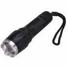 NEW-X7 Cree XM-L T6 800lm 5-Mode White Light Zooming Flashlight - Black (1 x 18650 / 3 x AAA)