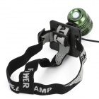 Cree XM-L T6 700LM 3-Mode Cool White Light Headlamp /  Bike Bicycle Light - Green (4 x 18650)