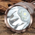 ForestTiger H525 Cree XM-L T6 800LM 5-Mode White Light Flashlight - Brown (1 x 18650)