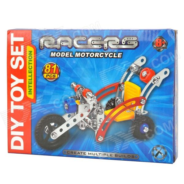 Creative DIY Assembly 3-Wheel Motorcycle Toy - Red + Blue + Yellow + Black