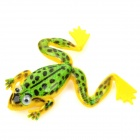 Lifelike Frog Style No-hook Fishing Bait - Green + Yellow