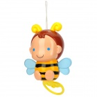 Cute Pull String Waving Wing Music Bee Toy - Black + Yellow + Blue (3 x L1154H)