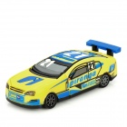 HD-082 Cool Racing Car-Stil USB 2.0 Flash Drive - Gelb + Blau (4GB)
