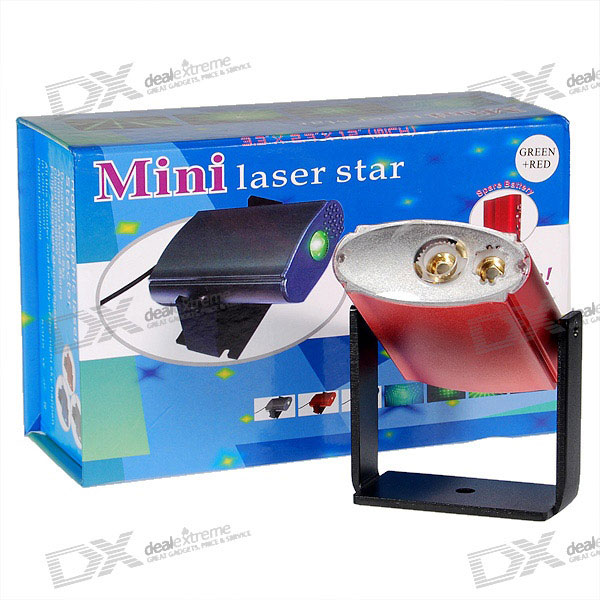 Mini Green + Red Laser Stars Light Show Special Effects Stage Projector (5mW/110V~240V AC)