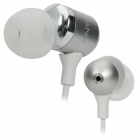 PNY Stilvolle In-Ear Ohrhörer - Silber (3,5 mm-Stecker / 110cm-Kabel)
