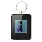 "K811A-HS Rechargeable 1.5"" TFT Digital Photo Frame Keychain - Black (8MB / 128 x 128)"