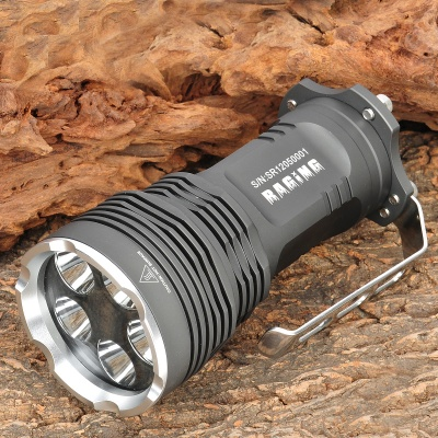 FandyFire 4000LM 5-Mode White Light Flashlight - Dark Grey (4 x 18650)