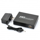 HDMI Female to CVBS + Audio R / L Female Converter Adapter - Black (NTSC / PAL)