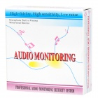 Audio Recording Surveillance Sound Monitor Pickup Device - White (DC 6~12V)