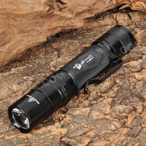 UltraFire SH-PD32 550lm 3-Mode Memory White Light Flashlight - Black (1 x 18650) ultrafire m3 t60 3 mode 910 lumen white led flashlight with strap black 1 x 18650