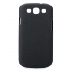 Protective Carbon Fiber Case w/ Screen Protector for Samsung i9300 Galaxy S3 - Black