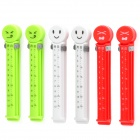 Smiling Face Bag Sealing Clip Clamp w/ Fresh Date + Month - White + Red + Green (6-Piece Pack)