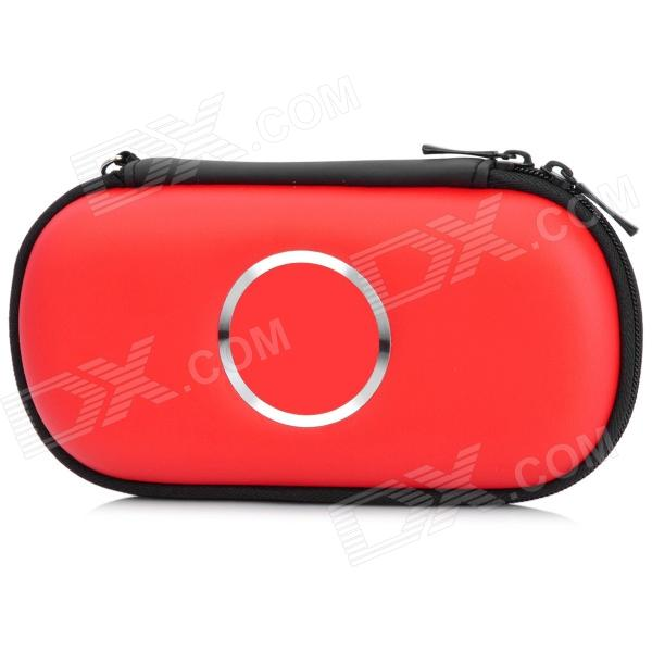 Protective Artificial Leather Carrying Bag Pouch for Sony PSP 1000 / 2000 / 3000 - Red виниловая пленка psp 2000 cg