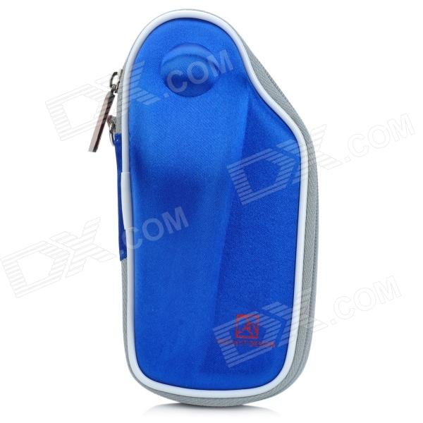 PROJECTDESIGN Protective Hard Carrying Pouch Case for Wii Nunchuck Controller - Blue project design protective hard carrying pouch for wii remote controller silver
