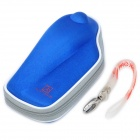 PROJECTDESIGN Protective Hard Carrying Pouch Case for Wii Nunchuck Controller - Blue