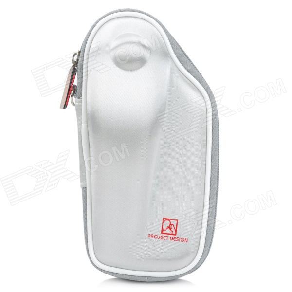 PROJECTDESIGN Protective Hard Carrying Pouch Case for Wii Nunchuck Controller - White project design protective hard carrying pouch for wii remote controller silver