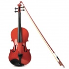 Beginner's Wood Case 4-String Violin w/ Horse Hair Bow and Rosin - Red + Black