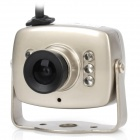 SX-208C-1030 Mini Television Camera w/ 6-IR LED Night Vision - Silver