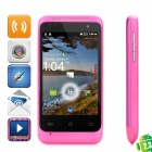 "C110 Android 2.3 GSM Bar Phone w/ 3.5"" Capacitive Screen, Quad-Band, GPS and Wi-Fi - Deep Pink"