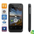 "C110 Android 2.3 GSM Bar Phone w/ 3.5"" Capacitive Screen, Quad-Band, GPS and Wi-Fi - Black"