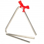 Rhythm Percussion Musical Instrument Metal Rod / Triangle Frame - Silver