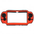 Protective Silicone Cover Case for Sony PS Vita - Black + Red