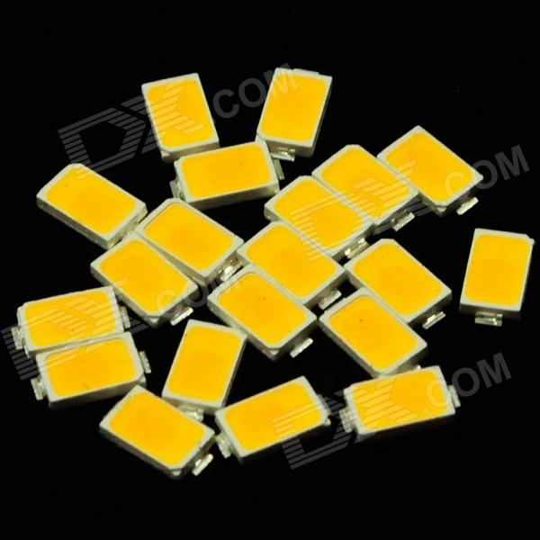 0.5W 40~45LM 3000~3150K Warm White Light LED Lamp Bead (20 PCS)