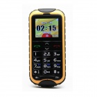 "N638 Anti-pressure Waterproof Senior GSM Bar Phone w/ 1.8""LCD, Dual-Band, SOS - Black + Yellow"