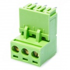 3-Pin Curved Screw Terminal Block Connectors - Green (20PCS)