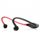 Sports MP3 Player Headphones Headset w/ TF - Black + Red (1 x AAA)